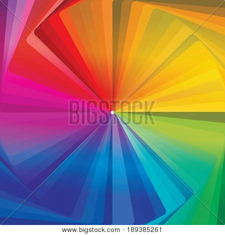 Abstract concentric shades of colorwheel background template