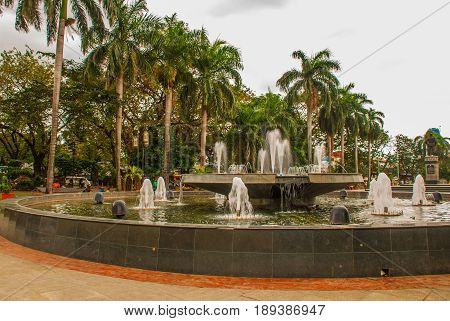 The Fountain Outside The Post Office Manila