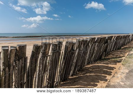 Protection on the Generelles beach in La Tranche-sur-Mer (Vendee, France)