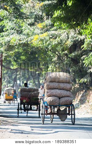 Transport of produce / vegetable in Siliguri India