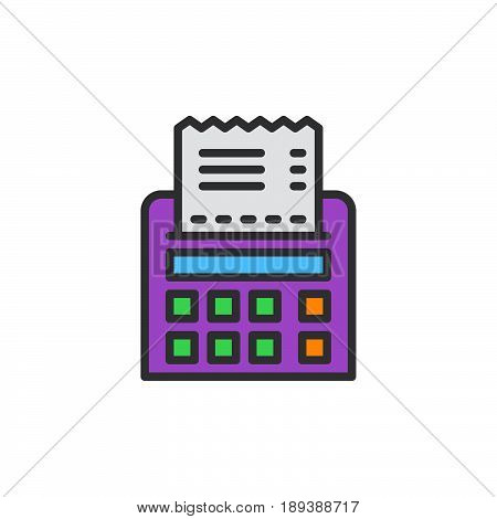 Receipt filled outline icon vector sign colorful illustration