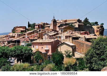 Roussillon France With View to the City