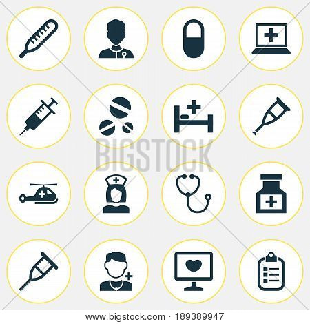 Drug Icons Set. Collection Of Injection, Mark, Nanny And Other Elements. Also Includes Symbols Such As Capsule, Health, Nanny.