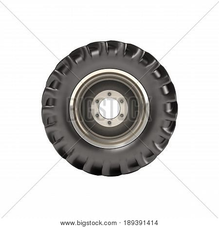Off-road Wheel Isolated On White Background Side View Without Shadow 3D