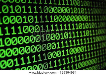 Binary matrix computer data code seamless background. Binary code for programming