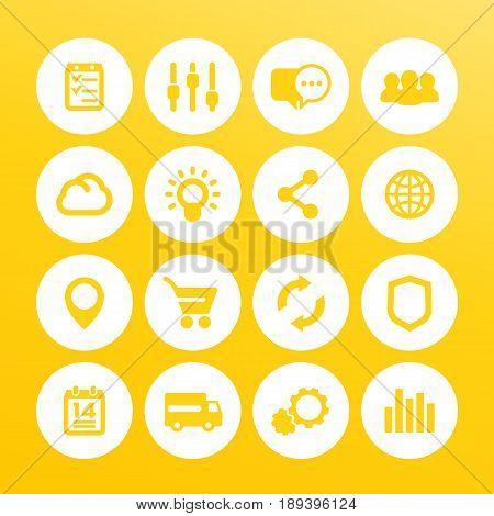 web icons set, internet, e-commerce, shopping, business, analytics