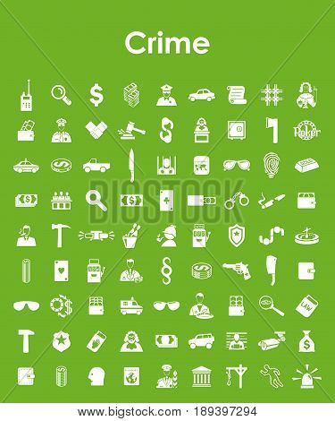 It is a Set of crime simple icons