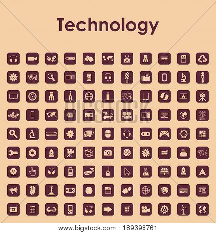 It is a Set of technology simple icons
