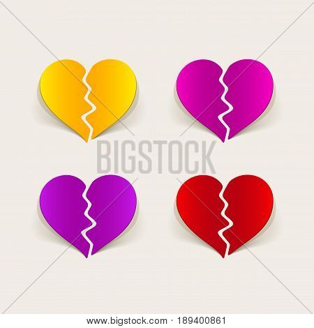 It is a realistic design element broken heart