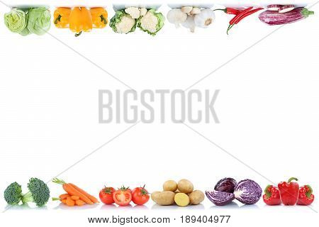 Vegetables Copyspace Copy Space Border Tomatoes Lettuce Bell Pepper