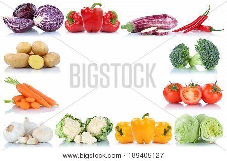 Vegetables Frame Copyspace Copy Space Border Tomatoes Lettuce Bell Pepper Carrots