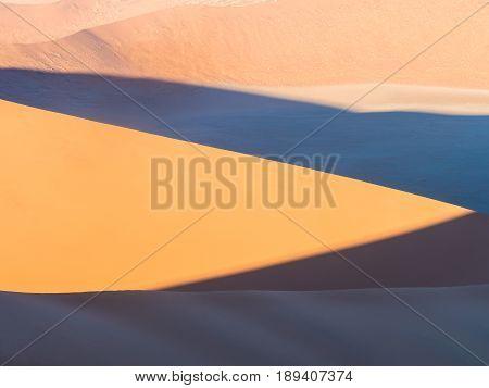 Patterns of sand on Dune 45 in Namib Desert Namib-Naukluft National Park Namibia.