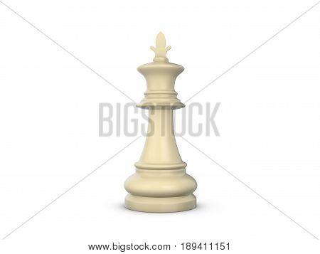 Chess King 3D Illustration