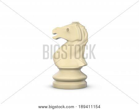 Chess Knight 3D Illustration