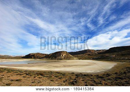 Beautiful landscape near Paso Roballos, near border of Argentina and Chile