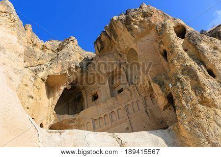 Church In The Rock Formations At Cappadocia, Anatolia, Turkey