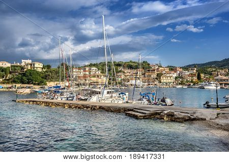 Kassiopi  a small tourist resort on the north east coast of Corfu