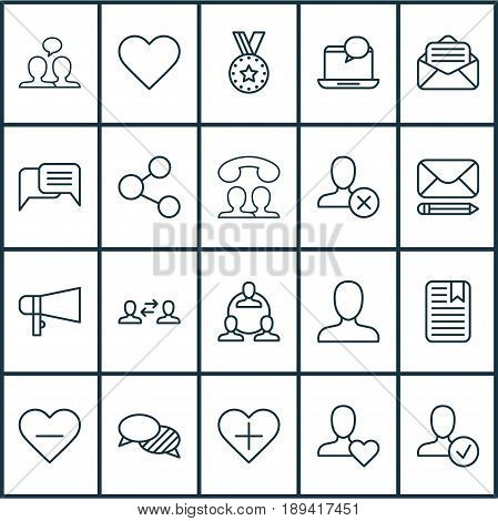 Social Icons Set. Collection Of Follow, Edit Mail, Teamwork And Other Elements. Also Includes Symbols Such As Person, Publish, Open.