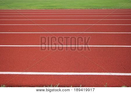 Lane 1-8 on a track at a local high school