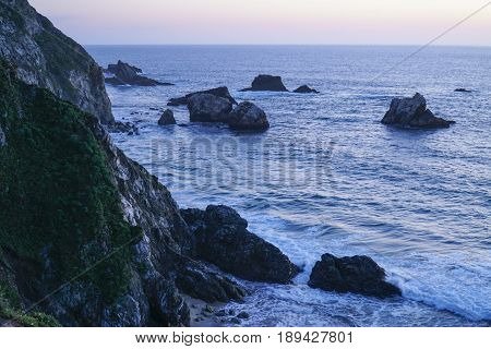 Amazing view over the Pacific Coast at Big Sur California - CALIFORNIA