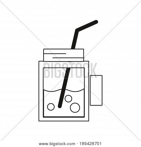 line refreshment beverage to hot day in the sun vector illustration
