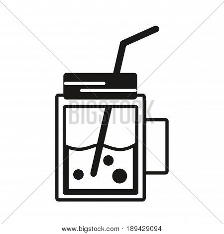 contour refreshment beverage to hot day in the sun vector illustration
