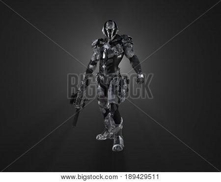 3d render of a advanced futuristic super soldier