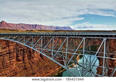 Navajo Bridge at Marble Canyon, in Arizona.