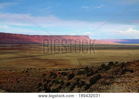 Vermilion Cliffs National Monument from a distance in Arizona.