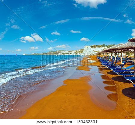 Xi Beach Morning View (greece, Kefalonia).