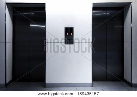 Titanium Elevator Doors in a Business Building