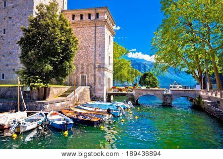 Riva Del Garda Old Waterfront View