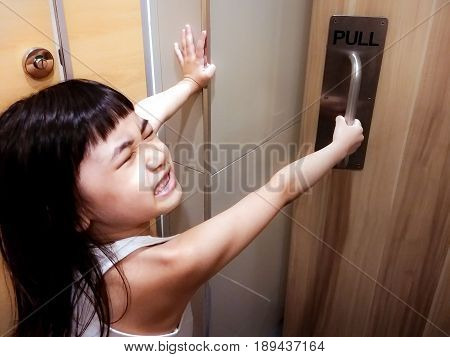 Kid Desperately Escaping from a Stinky Public Restroom