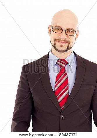 Cute dimples on smiling man in a suit.