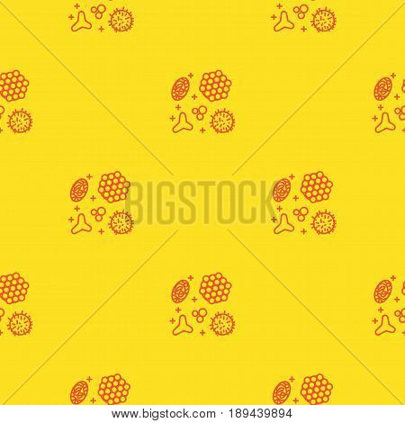 Pollen, a product of bees and beekeeping. A useful organic amino acid. Seamless pattern in a linear style. Vector illustration Texture for scrapbooking, textiles web page, wallpapers, fashion