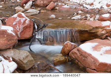 Small Waterfall In Snowy Creek