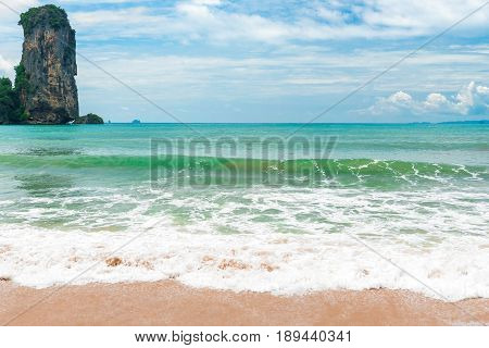 Beautiful Sea And Rock Andaman Sea, Krabi Resort, Thailand