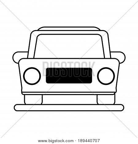 car frontview icon image vector illustration design  black line