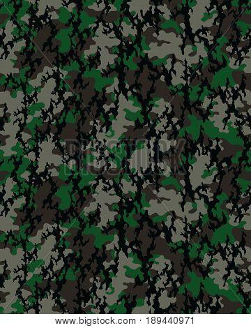 Fashionable camouflage pattern, fashion design. Seamless illustration