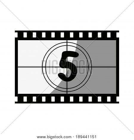 video tape segment with number countdown  icon image vector illustration design