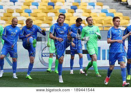 Training Session Of Ukraine National Football Team In Kyiv