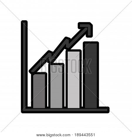 bar chart icon vector graphic design icon