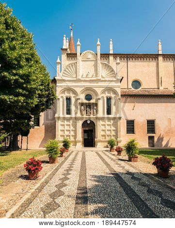 The church of Our Lady of Miracles in Lonigo Italy is an example of Gothic and Renaissance architecture.