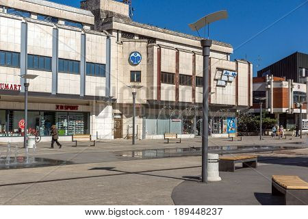 PIROT, SERBIA -16 APRIL 2016: Center of  town of Pirot, Republic of Serbia