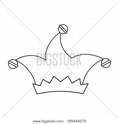 harlequin hat icon over white background. vector illustration