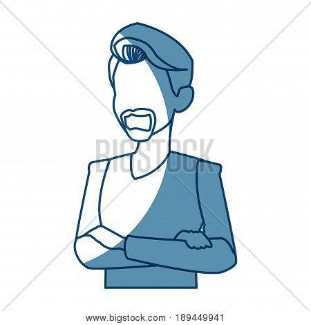 portrait man people faceless style image vector ilustration