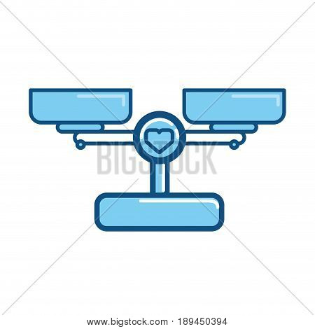 weight beam Balance icon vector illustration graphic design