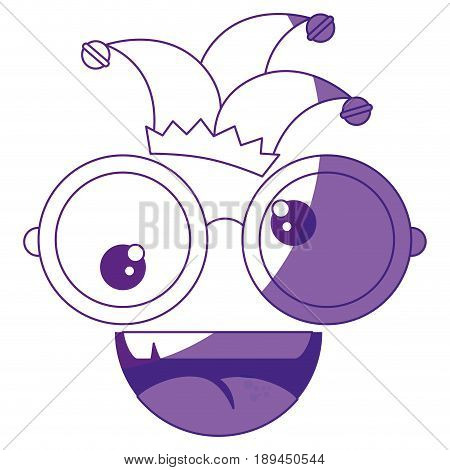 crazy eyes jester cap vector icon illustration graphic design