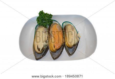shellfish on the Isolated White Background food