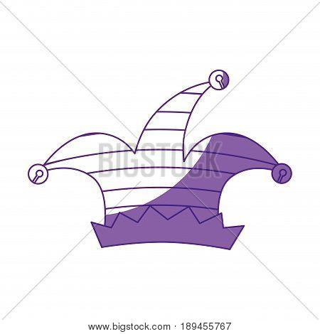 harlequin hat  icon over white background vector illustration